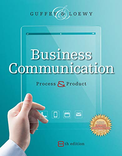 Download Business Communication: Process & Product 1285094069