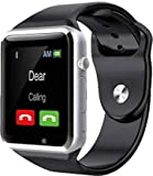 JOKIN Smart Watch Bluetooth Smartwatch Compatible with All Mobile Phones for Boys and Girls (Silver) Gift for Your Loved One