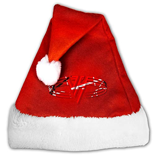Review Adult Children's Van Halen 1984 Christmas Hats Red Plush Holiday Party Xmas Cap