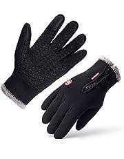 Opard Touchscreen handskar cykel handskar utomhus sport vinterhandskar, cykelsport handskar, varm vindtät halkfri lämplig för vinter höst vår