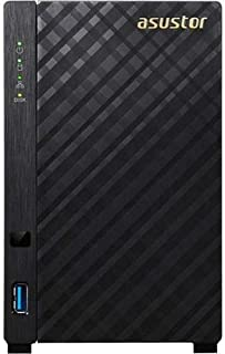 Asustor AS1002T v2-2 Bay NAS, Dual-Core 1.6GHz CPU, 512MB RAM, Network Attached Storage, Personal Cloud (Diskless)