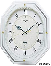 セイコー クロック 掛け時計 アナと雪の女王 電波 アナログ 5曲 メロディ 大人ディズニー 白 FS505W SEIKO