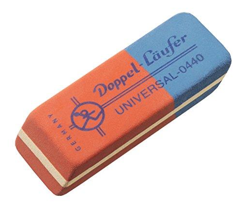 Läufer 00440 DOPPEL-Universal 0440 Radierer, Radiergummi aus Kautschuk, Der Rot-Blaue Klassiker, abgeschrägte Radierflächen
