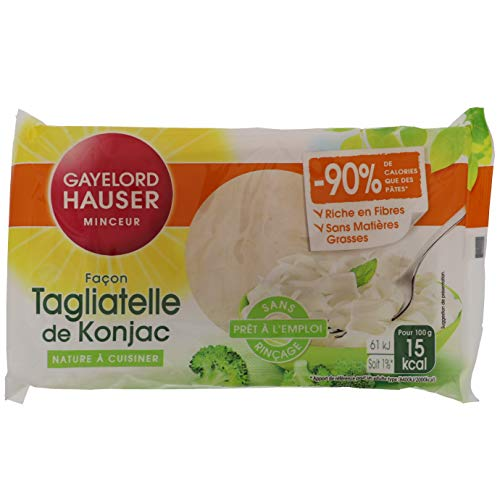 Gayelord Hauser Tagliatelle de Konjac - Nature - 160 g - Sans rinçage - Prêt à l'emploi