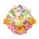 デイズニー プリザーブドフラワー ケーキ プーさん ピグレット 誕生日 結婚祝い