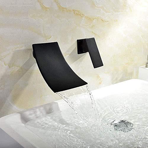 Grifos de cocina Grifos de baño Grifo Baño Pared negra Grifo montado en la oscuridad Grifo de lavabo de mesa superior Grifo de lavabo de cascada fría y caliente Grifo empotrado Hermoso y práctico