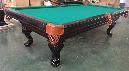 Kunibert 9 Ft. Tunierpoolbillard Billardtisch Modell Pemplar mit 3cm starken Schieferplatten Tuchfarbe Grün Gestellfarbe Mahagoni