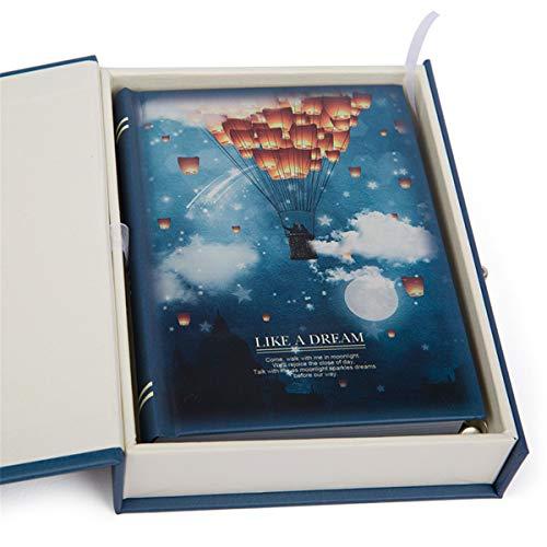 Mouykoery Caderno pautado com caixa e fecho, capa dura clássica a granel, 11 cm x 14,5 cm, papel grosso de 2 cm para escritório, casa, escola, negócios, blocos