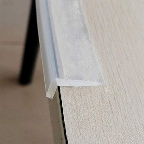 Edge Protector 100% Silicone, 3ft Baby Proofing Corners Clear Guards, Pre-Tape Adhesive Soft for Kids Safety, Child Table Cabinets Furniture Bumper (Silicone Edge Protectors)