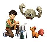 Megahouse Pokemon: Brock & Geodude & Vulpix GEM PVC Figure