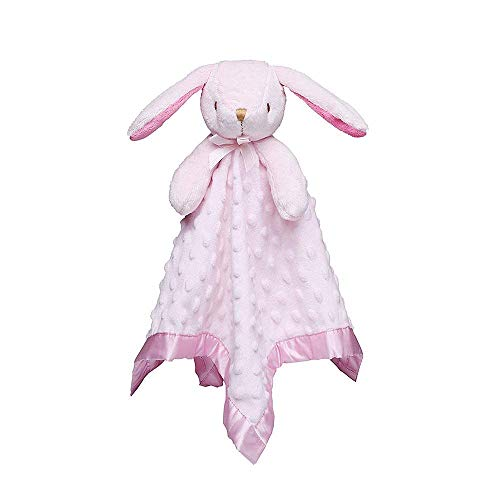 Pro Goleem Loveys for Babies Bunny Security Blanket Girl Newborn Soft Pink Lovie Valentine's Day Gift for Infant and Toddler Girl