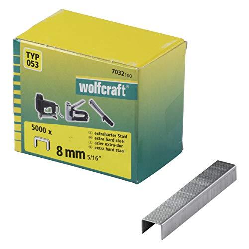 Wolfcraft 7032100 7032100-5000 Grapas de Lomo Ancho, Tipo 053, Set de 5000...