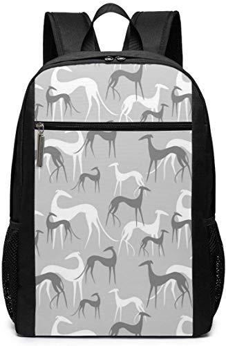 LONGJIN Bolsa para Laptop Laptop Backpack Greyhound Business Travel Computer Bag for Women and Men College School Backpack Fits in Laptop Notebook Bookbag
