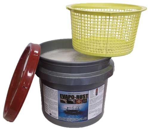 Evapo-Rust 3 Gallon Pail with Dip Basket - The Original Safe Industrial Strength Rust Remover