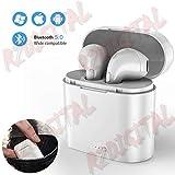 r2digital Auricolari Cuffie I7x Bluetooth 5.0 Wireless Senza Fili CANCELLAZIONE del Rumore Bassi POTENTI Alta Definizione con Microfono