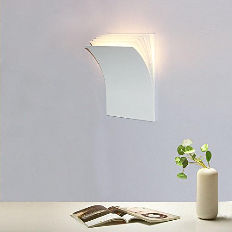 StiefelU LED Wandleuchte nach oben und unten Wandleuchten Bücher im Wohnzimmer Wand Lampen LED-Wand lampe Nachttischlampe Schlafzimmer lampe Studie wand Leuchten (H 28l21 w7cm, weier Sand