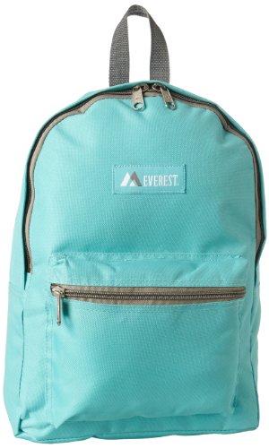 Everest Basic Backpack, Aqua Blue, One Size
