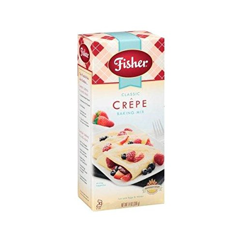 Fisher All Natural Classic Crepe Mix, 14 Ounces, Pack of 3