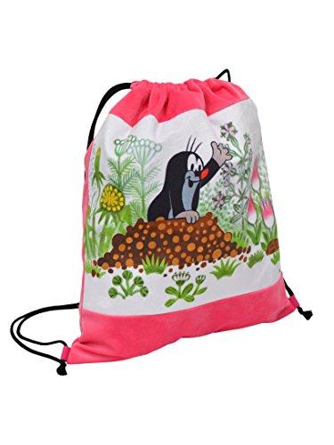 Bolsa de deporte para escuela, guardería, bolsa de deporte, bolsa para zapatos, original el pequeño topo The Little Mole Krtek Krtecek, rosa, bolsa de deporte, para niños, niñas, unisex