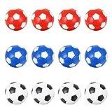BESPORTBLE 12 Unids Bolas de Mesa de Futbolín Mini Pelota de Fútbol Mesa de Futbol Futbolines de Mesa de Repuesto Accesorios de Fútbol Color Mezclado 36 Mm