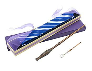 PEIYU Wizard Wand and Witches Magic Wand Cosplay Wand with Steel Core Costume Accessories for Christmas Halloween Birthday Party Favors with tie and Key Chain and Gift Box Bronze