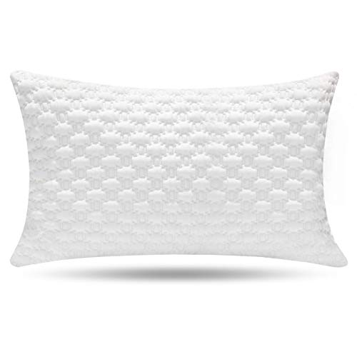 Shredded Memory Foam Pillow, Bed Pillows, Pillow for Sleeping - Support Side Back Stomach Sleepers, CertiPUR-US, Queen