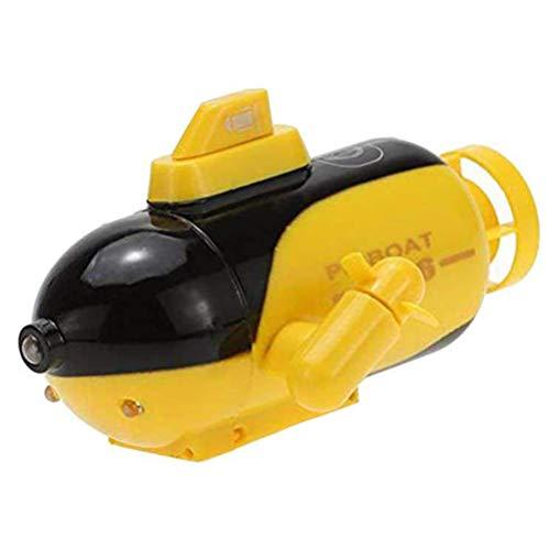 Knowooh RC Boot Ferngesteuertes Boot Mini Fernbedienung Boot Outdoor Pools Seen Racing Boote Elektrisches Spielzeug für Kinder,Gelb