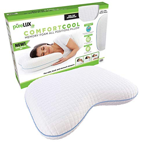 PüreLUX Comfort Cool Memory Foam All Positions Pillow