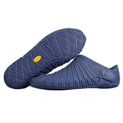 Furoshiki Vibram FiveFingers Knit Original Men - S E T - Zapatillas transpirables para hombre, con práctica bolsa de transporte, azul marino, 44 EU