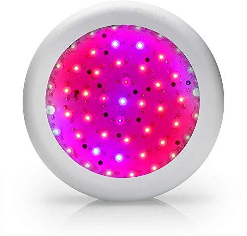 WUAZ 150W UFO LED Crece Light- Rojo + Azul + Blanco Lámpara Creciente Full Spectrum 50Leds Flores para Vegs Crece La Tienda Lights Planta De Interior