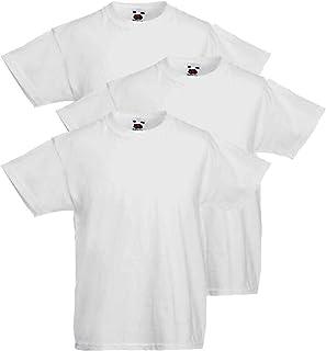 Fruit of the Loom Valueweight - Camiseta (paquete de 3) 100% algodón para hombre (3-610360 30)