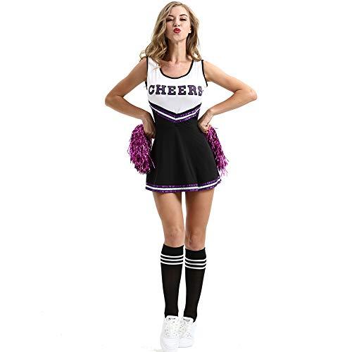Cheerleading Kleding Vrouwen Uniforms -Halloween Kostuum, Cheerleader Fancy Jurk Outfit High School Muziek Voetbal Student Wear Sports Club