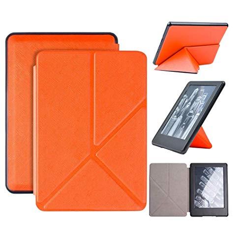 Capa Kindle Paperwhite 10ª geração à prova d'água - Função Liga/Desliga - Fechamento magnético - Origami - Laranja
