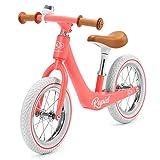 Kinderkraft Bicicletta RAPID, Ultraleggero Bici Senza Pedali, Stile Retro, Magnesium, per Bambini, fino 3 Anni, Corallo