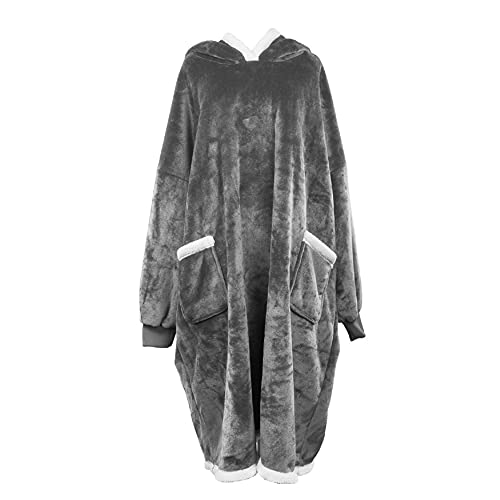 UMIPUBO Oversized Sherpa Hoodie Sweatshirt Blanket Super Soft Warm Wearable...