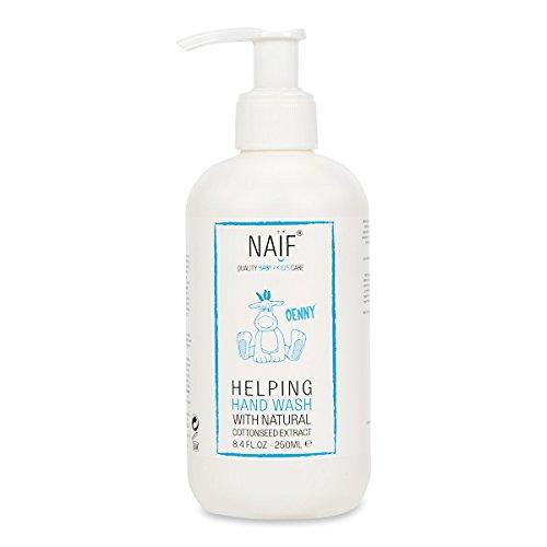 NAÏF Natürliche Handseife | Mit Baumwollsamenöl | Handseife für Kinder und Baby | Ohne aggressive Chemikalien | 250ML