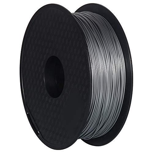 GEEETECH 3D Filament PETG 1,75 mm 1 kg per stampante 3D, Argento,Precisione Dimensionale +/- 0,02 mm