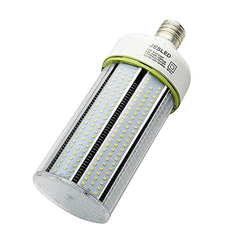 JESLED 100W LED Corn Light Bulb, E39 Mogul Base LED Bulbs, 5000K Daylight, 13500LM, 400 Watt Equivalent, CFL HPS Metal Halide Lamp Replacement for Garage Warehouse Outdoor Street Area Lighting