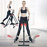 Sentuca 2 Modes Air Walk Trainer Elliptical Machine Glider Monitor Fitness Workout, Cross Trainer for Home Gym