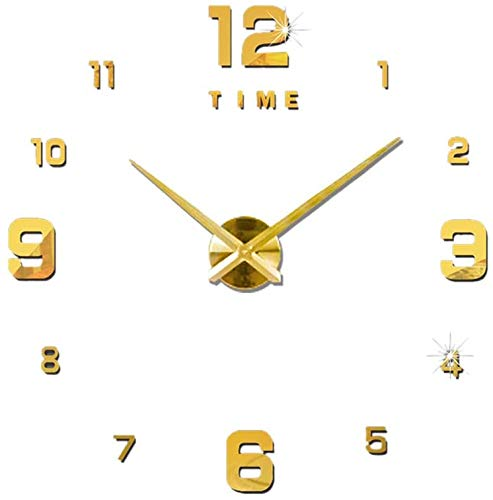 Uncle Lee Reloj de Pared sin Marco, números Romanos Ajustables, acrílico, Digital,...