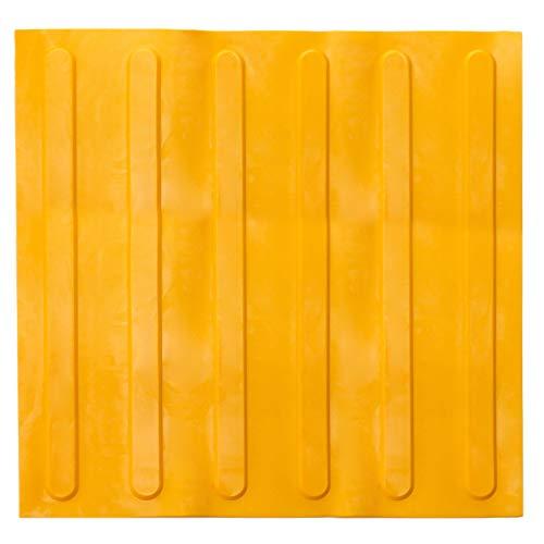 PrimeMatik - Baldosa podotáctil pavimento táctil Ciegos invidentes de 40x40cm con Franjas Avance Amarillo 10-Pack