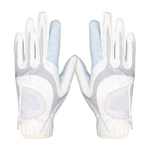 LIOOBO 1 Paar Frauen Golfhandschuhe Atmungsaktive Mikrofaserhandschuhe L