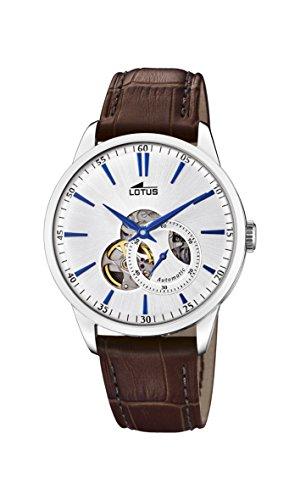 Lotus Watches Reloj Análogo clásico para Hombre de Automático con Correa en Cuero 18536/2