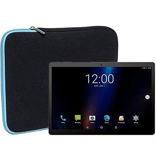 Slabo Tablet Tasche Schutzhülle für ALLDOCUBE iPlay10 Pro | Power M3 Hülle Etui Hülle Phablet aus Neopren – TÜRKIS/SCHWARZ