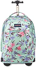 JanSport Driver 8 Rolling Backpack - Wheeled Travel Bag with 15-Inch Laptop Sleeve, Vintage Irises