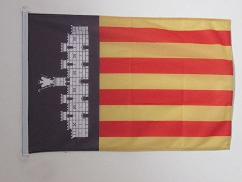 AZ FLAG Flagge Mallorca 90x60cm - Mallorca Fahne 60 x 90 cm Aussenverwendung - flaggen Top Qualität