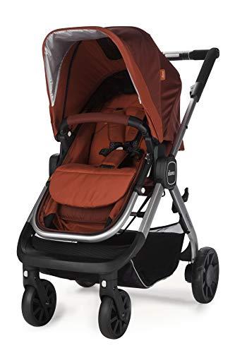 Diono Quantum Kombikinderwagen 2in1 Travelsystem Inklusive Wanne Sitzeinheit Und Adapter Für Babyschale (Red)