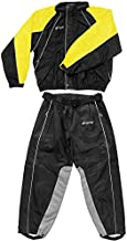 Frogg Toggs Hogg Togg Men's Street Motorcycle Rainsuit - Black/Yellow/Small