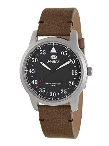 Reloj Caballero Marea Trendy. Cuero marrón B54151/1