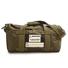 Dimensions: 17″ 1/2 l x 9″ h x 8″ w Canvas webbing handles & shoulder strap Orange nylon interior Khaki nylon Stow Bag